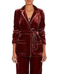 Barneys New York - Velvet Robe Jacket - Lyst