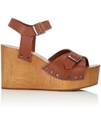 Barneys New York - Leather Wedge Sandals - Lyst