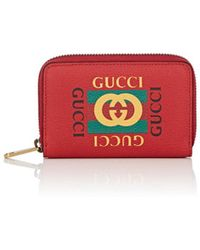 190537a34fc Lyst - Gucci Signature Leather Card Case in Black for Men