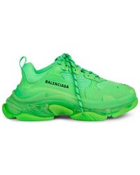 Balenciaga - Triple S Leather & Mesh Sneakers - Lyst