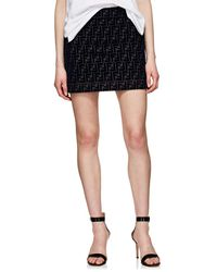 Fendi - Monogram Mini Skirt - Lyst
