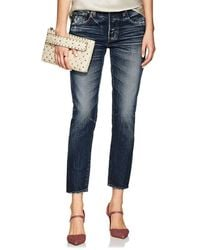 Moussy - Nelson Distressed Tapered Jeans - Lyst