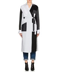 MM6 by Maison Martin Margiela - Striped Cotton Robe Coat Size 40 Fr - Lyst