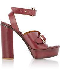 Chloé - Kingsley Leather Platform Sandals - Lyst