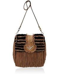 1b5aa2621c1 Fendi - Striped Fur Shoulder Bag - Lyst