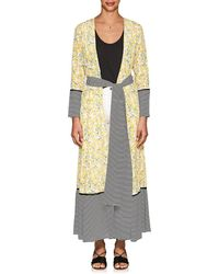 We Are Leone - Floral Silk Belted Maxi Cardigan - Lyst