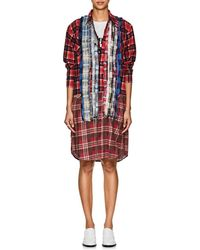 Needles - Plaid Cotton Flannel Shirtdress Size 2 - Lyst