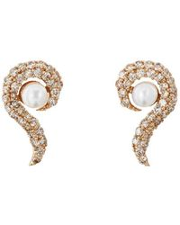 Ileana Makri Y-d-pearl Flair Stud Earrings