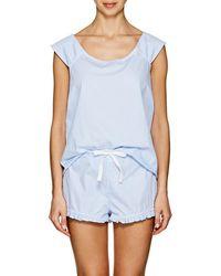 The Sleep Shirt - Striped Cotton Pyjama Set - Lyst