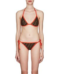 6ea4afee71 Fendi - Logo Triangle String Bikini - Lyst
