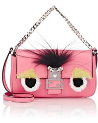 Fendi - Micro 'baguette' Crossbody Bag - Lyst