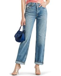 RE/DONE - Distressed High-rise Loose Jeans - Lyst