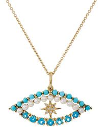 Ileana Makri - Shiny Star Eye Necklace - Lyst