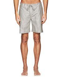 Zimmerli - Cotton-linen Pajama Shorts - Lyst