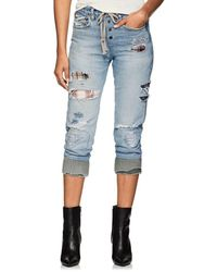 Greg Lauren - Patchwork Denim Lounge Trousers - Lyst