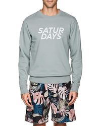 Saturdays NYC - Bowery Gotham Cotton Terry Sweatshirt - Lyst
