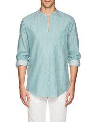 Massimo Alba - Striped Cotton Twill Shirt - Lyst