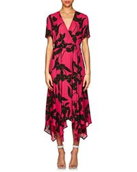 A.L.C. - Cora Floral Silk Wrap Dress - Lyst