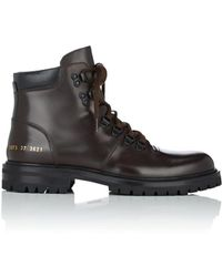 Common Projects - Leather Hiking Boots - Lyst