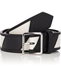 CALVIN KLEIN 205W39NYC - Striped Leather Belt - Lyst