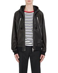 Maison Margiela - Leather Hooded Jacket - Lyst
