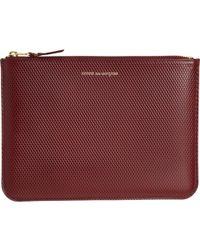 Comme des Garçons - Luxury Leather Large Zip Pouch - Lyst