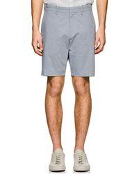 Theory - Evan Striped Oxford Cloth Shorts - Lyst