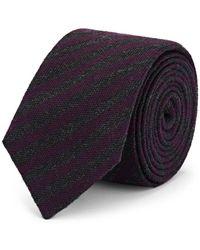 Alexander Olch Striped Wool Necktie