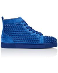Christian Louboutin - Louis Flat Suede Trainers - Lyst