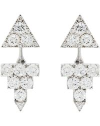 Ileana Makri - Diamond Pyramid Earrings - Lyst