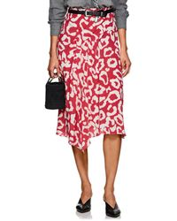 Isabel Marant - Cacia Silk Asymmetric Midi-skirt - Lyst