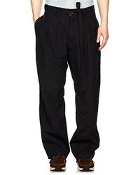 Visvim - Hakama Striped Wool-blend Pleated Trousers - Lyst