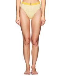 Onia - Emily Gingham High-waist Bikini Bottom - Lyst