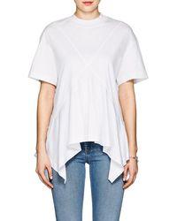 Cedric Charlier - Cotton Jersey Handkerchief T-shirt - Lyst