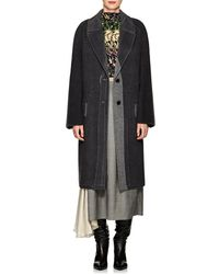 Prada - Brushed Wool-blend Melton Coat - Lyst