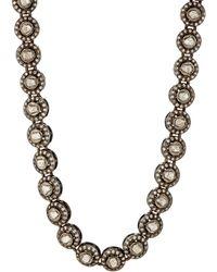 Munnu - Single Line White Diamond Necklace - Lyst