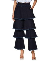 OSMAN - Tiered Flounce Jeans - Lyst