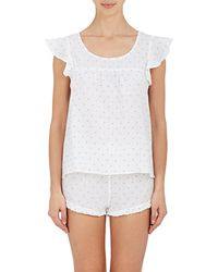 The Sleep Shirt - Linen Fil Coupé Pyjama Set - Lyst