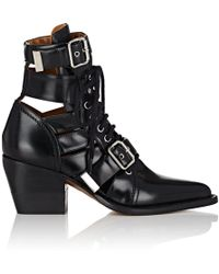 Chloé - Rylee Double Buckle Leather Ankle Boots - Lyst