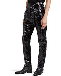 Balmain - Sequined High-waist Skinny Trousers - Lyst