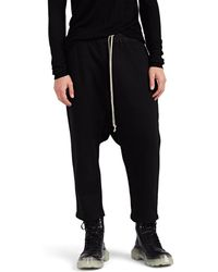 Rick Owens Drkshdw - Cotton Fleece Crop Sweatpants - Lyst