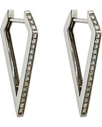 Eva Fehren - Dagger Hoop Earrings - Lyst