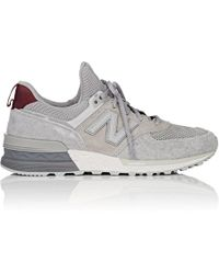 New Balance - 574 Suede & Mesh Sneakers - Lyst