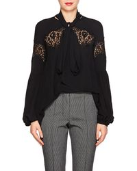 Givenchy - Scarf-neck Lace - Lyst