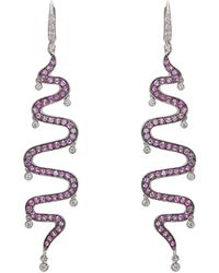 Sharon Khazzam - Shimmee® Swirl Earrings - Lyst