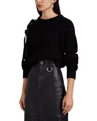 Helmut Lang - Buckle-shoulder Chunky Rib-knit Sweater - Lyst