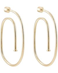 Jennifer Fisher - Large Pipe Hoop Earrings - Lyst