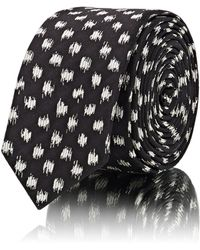 Saint Laurent - Dotted Silk Necktie - Lyst