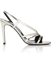 Barneys New York - Leather Slingback Sandals - Lyst