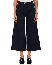 OSMAN - Ciara Cotton Denim Culottes - Lyst